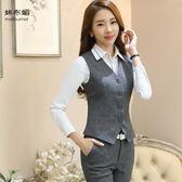 修身職業馬甲女職業裝女裝坎肩短款工裝銀行正裝工作服 單件   蜜拉貝爾