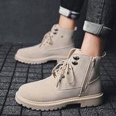 男靴子冬季正韓版潮流馬丁靴男高筒中筒男士工裝靴復古軍靴百搭男鞋 街頭布衣