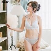 夢幻蕾絲 極致美背 L型無鋼圈內衣 維納斯神話 C罩杯D罩杯(附贈蕾絲內褲) - 香草甜心 愛戀白