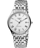 LONGINES 浪琴 Lyre 琴韻 羅馬經典機械腕錶/手錶-白 L48604116