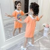 t恤 2020童裝新品兒童半袖夏季中長款上衣小女孩洋氣裙子(中秋禮物)