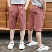男童短裤 男童短褲五分褲夏裝2021新款童裝兒童中大童中褲薄款休閒韓版潮衣