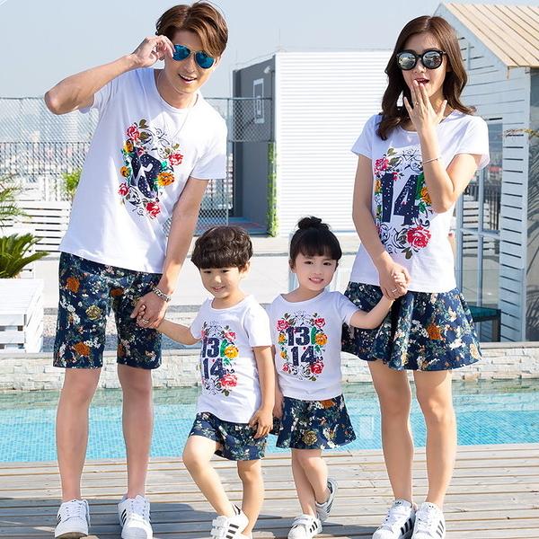 ★韓版SH-S803★《浪漫1314》短袖親子裝♥情侶裝
