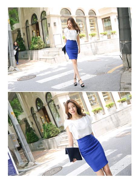 2019夏季韓版包臀高腰中長裙後開叉半身裙百搭職業一步裙OL西裝裙