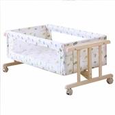星月童話嬰兒床實木環保搖籃床新生兒搖床bb床便攜式寶寶床帶蚊帳