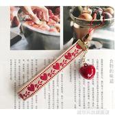 手機吊飾 可愛日系少女愛心鈴鐺手腕短繩手機掛繩鑰匙掛飾手機掛件原創意 城市科技