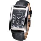 EMPORIO ARMANI Classic 優雅紳士時尚錶 AR1604 黑