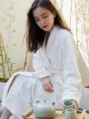 和服睡衣和服睡衣女性感純棉浴袍情侶繫帶白色睡袍秋冬加厚長款酒店浴袍男聖誕交換禮物