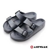 AIRWALK AB拖休閒雙扣環多功能室內外拖鞋-太空灰