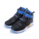 DIADORA 高筒黏帶籃球鞋 黑藍 DA8AKB6106 大童