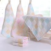 嬰兒紗布洗臉巾口水巾純棉男寶寶毛巾雙層方巾長方形幼兒園手帕  k-shoes