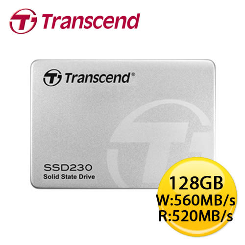 創見 SSD230 128GB 2.5吋 SATA3 SSD 固態硬碟