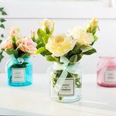 ins小清新假花仿真花擺件北歐裝飾花束客廳塑料玫瑰花餐桌花擺設第七公社