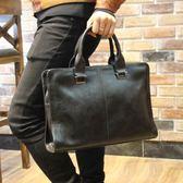 商務包公文包男士手提包休閒男式皮包電腦包正韓背包 全館免運