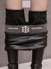 外穿皮褲女秋冬加絨加厚彈力打底褲加長顯瘦高腰小腳褲亞光pu長褲