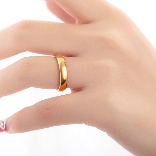 《 QBOX 》FASHION 飾品【R100N531】精緻個性情侶素面光面設計鎢鋼戒指/戒環(三色)