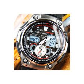 【時間玩家】CASIO AQ-190W-1A 福爾摩斯-樂活自由自在 多功能休閒取向--(膠帶/黑) 手錶 AQ-190W-1AVDF