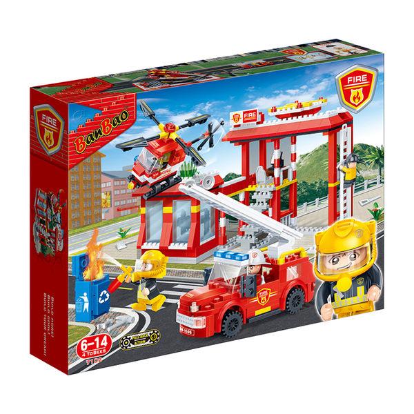 《無法超取》新消防系列 NO.7102消防護衛隊 迴力車【BanBao邦寶積木楚崴】
