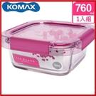 韓國 KOMAX 冰鑽方形強化玻璃保鮮盒 粉 760ml 59851【AE02268】i-Style居家生活