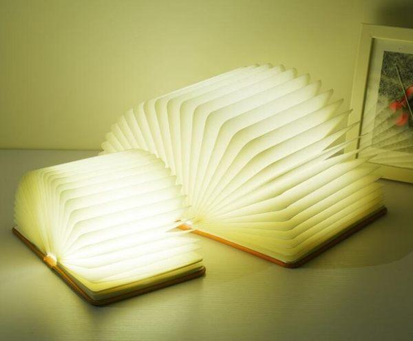 USB五彩變色書本燈 變色折疊書本燈 LED小夜燈
