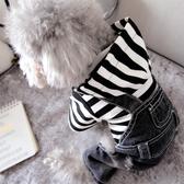 寵物雪納瑞比熊泰迪小狗狗衣服小型犬春裝薄款牛仔背帶四腳衣