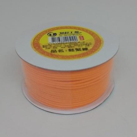 彩色素面鬆緊帶(橘色-長度約1456cm)/彈力繩/口罩繩/綁髮帶