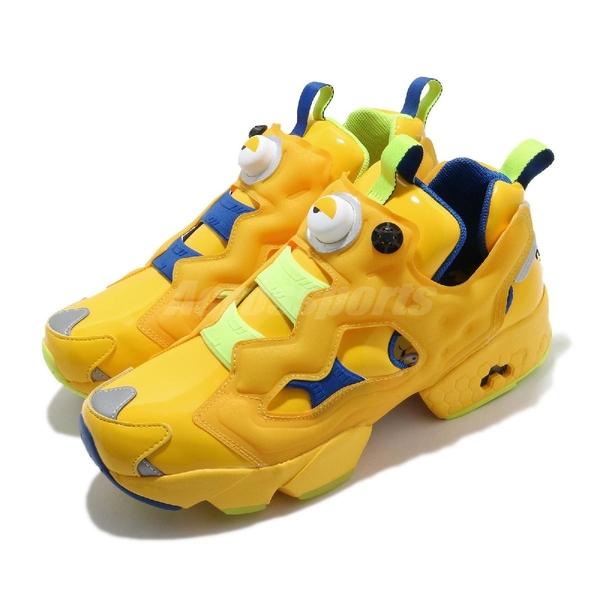 Reebok 休閒鞋 InstaPump Fury MU Minions 黃 藍 男鞋 女鞋 復古 小小兵 運動鞋 【ACS】 FY3404