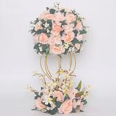 婚禮桌花婚慶道具用品鐵藝花架酒店婚禮主桌花藝擺件櫥窗裝飾花  限時八八折