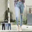 LULUS-Y類韓組-小破壞單膝破窄管牛仔長褲S-XL-3色  現+預【04011268】