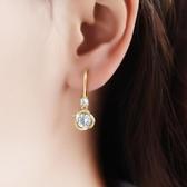 耳環 耳環女2020年新款潮高級感韓國氣質鑲鉆耳墜簡約小巧耳勾 中秋節