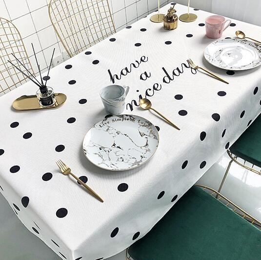 布藝桌布防水防燙免洗餐桌布