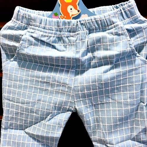 ☆棒棒糖童裝☆夏女童超彈力格子款七分褲 7-25