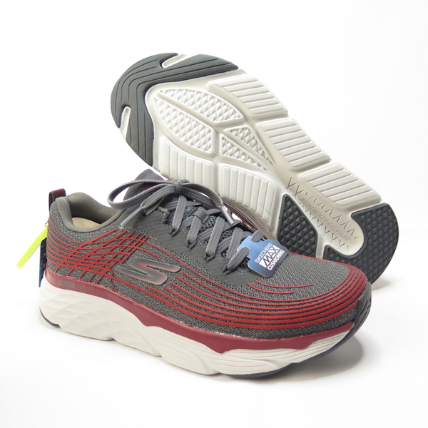 Skechers MAX CUSHIONING ELITE 慢跑鞋 54430CCRD男款 紅灰【iSport愛運動】