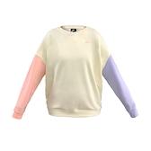 Nike AS W NSW Crew Flc Pastel Color 女款 黃粉紫 休閒 長袖 DJ6946-156
