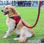金毛狗鏈子胸背帶狗狗牽引繩大型犬牽狗繩子中型犬拉布拉多栓狗繩【2 快速出貨