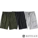 【OBIYUAN】工裝短褲 日系 男女可穿 素面 寬鬆 大口袋 工作褲 3色【T88999】