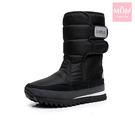 機能防水加厚保暖太空雪靴 黑 *MOM*...