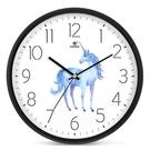 霸王靜音掛鐘客廳個性創意時尚北歐鐘表臥室卡通圖案掛表現代時鐘 qf28941【MG大尺碼】