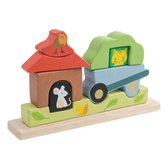【美國Tender Leaf Toys】動物農場疊疊樂(手眼協調疊疊樂拼圖)