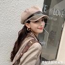 貝雷帽女夏季薄款帽子小香風輕奢秋冬英倫時尚韓版潮百搭八角帽 美好生活