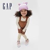 Gap女幼童 甜美風格織紋鬆緊休閒褲 599909-愛心印花