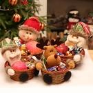 聖誕節裝擺件 圣誕節裝飾用品糖果籃子糖果筐桌面擺件場景布置商場店面節日裝扮