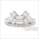 apm MONACO LES CASCADES系列閃耀晶鑽鑲飾單邊耳骨夾耳環(銀)