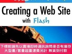 二手書博民逛書店Creating罕見A Web Site With FlashY255174 David Morris Pea
