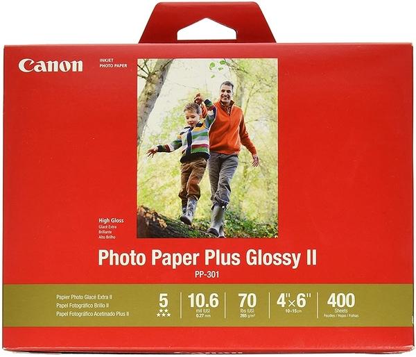 [2美國直購] Canon 4x6 吋 相片紙400張 CanonInk Photo Paper Plus Glossy II 4吋 x 6吋 400 Sheets (1432C007)