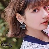 耳環 復古編織心型耳環-Ruby s 露比午茶