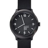 4.3公分設計系列腕錶 - IP黑 Mondaine 瑞士國鐵錶