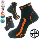 [UF72+]除臭全功能壓力運動襪/黑螢橘(25~28)男生 UF-900-3/單入/路跑/球類運動/戶外/自行車/久站工作