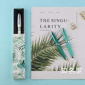 鋼筆 鋼筆金屬桿彩色烤漆特細小美工尖學生練字盒裝筆 7色