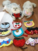 【買一送一】韓國可愛手工寵物口水巾貓咪圍嘴圍兜三角巾【極簡生活】